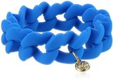 Marc by Marc Jacobs Electric Blue Lemonade Haute Mess Rubber Turn Lock Stretch Bracelet