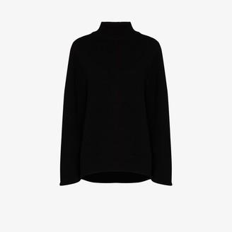 Jil Sander Knitted Wool Cape Sweater