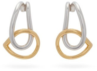 Charlotte Chesnais Blaue Gold-plated And Sterling-silver Earrings - Silver Gold