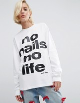 Asos WAH LONDON x Slogan T-Shirt