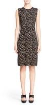 Lanvin Women's Leopard Jacquard Sleeveless Sheath Dress