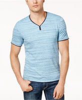 INC International Concepts Men's Space-Dyed Ragged-Edge T-Shirt, Created for Macy's