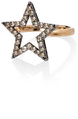 Rosa de la Cruz 18kt Yellow Gold Diamond Star Ring