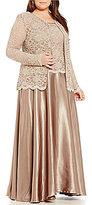 Cachet Plus 2-Piece Lace Jacket Dress