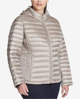 Tommy Hilfiger Plus Size Quilted Hooded Puffer Coat, Created for Macy's