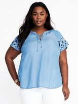 Old Navy Plus-Size Lace-Up Tencel® Top