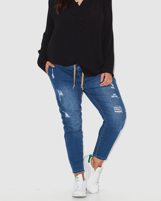 17 Sundays - Women's Blue Straight - Warpaint Joggers - Size One Size, 12 at The Iconic
