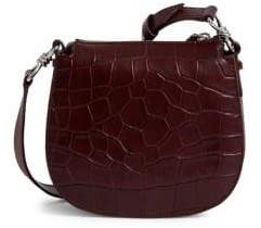 AllSaints Mini Polly Leather Crossbody Saddle Bag
