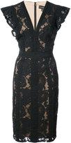 Tadashi Shoji lace embroidered fitted dress