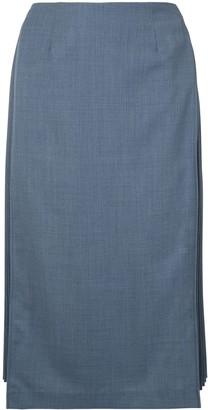 Le Ciel Bleu A-line side pleated skirt