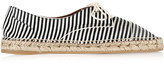Tabitha Simmons Dolly striped silk espadrilles