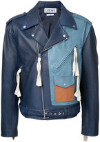 Loewe colour block biker jacket - men - Goat Skin - 48