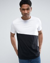 Benetton T-Shirt With Asymmetric Panel Detail