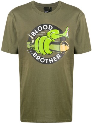 Blood Brother Snake logo-print T-Shirt