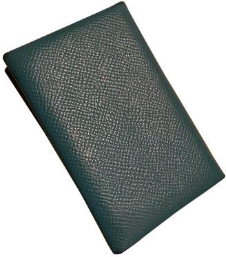 Hermã ̈S HermAs Calvi Green Leather Purses, wallets & cases