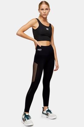 Womens Black Seamless Leggings By Hiit - Black