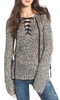Pam & Gela Women's Lace-Up Sweater