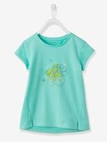 Vertbaudet Girls Butterfly Print T-shirt