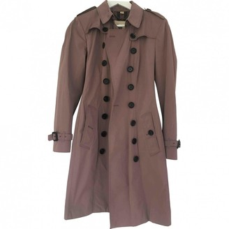 Burberry Pink Synthetic Trench coats