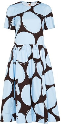 Marni Dot Print Flared Dress