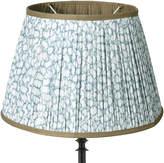 OKA 45cm Guilloche Pleated Cotton Drum Lampshade