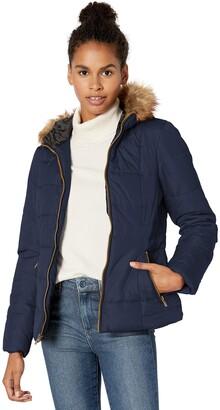 Celebrity Pink Men's Warm Winter Jacket with Faux Trimmed Hood
