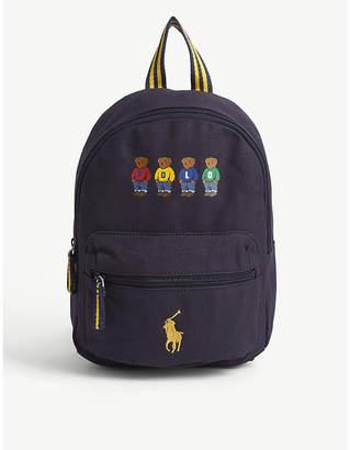 Ralph Lauren Polo Bear print canvas backpack