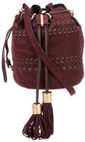See by Chloe Leather-Accented Suede Bubcket Bag