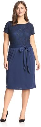 Melissa Masse Plus Women's Sheath Dress