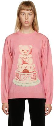Moschino Pink Wool Teddy Bear Sweater