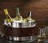 Pottery Barn Saddle Leather Party Bucket