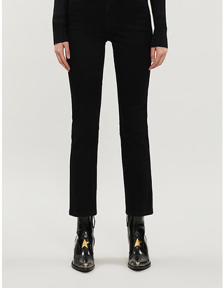 Good American Good Straight cropped straight high-rise jeans