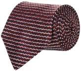 Corneliani Woven Chequered Silk Tie