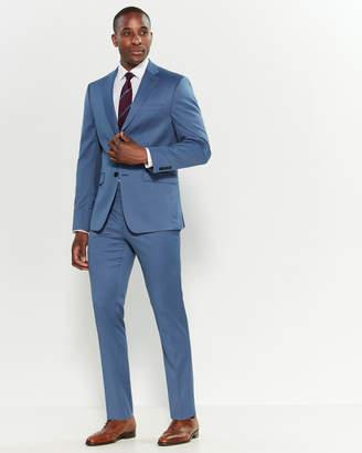 Calvin Klein Two-Piece Light Blue Pindot Stretch Slim Fit Suit