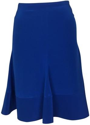 Schumacher Blue Silk Skirt for Women