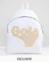 Gola Exclusive Classic Backpack In White And Nude