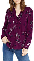 Oasis Shadow Bird Shirt, Dark Purple