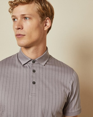 Ted Baker AIRFLOW Striped cotton polo top