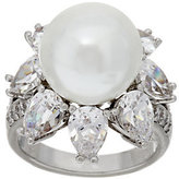 Elizabeth Taylor As Is The South Sea-Style Pearl Simulated Ring