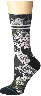 Stance La Vie En Rose Crew (Black) Women's Crew Cut Socks Shoes