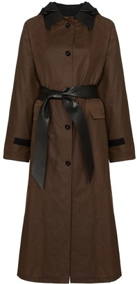Kassl Editions Belted Waxed Trench Coat