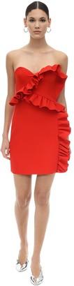 MSGM Strapless Double Crepe Mini Dress
