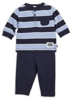 Offspring Two-Piece Striped Cotton Top & Pants Set