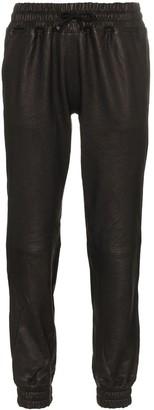 Lot Lthr Slim Leg Leather Track Pants