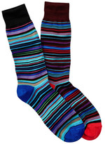 Jared Lang Striped Crew Sock - Pack of 2