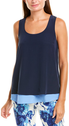 Tory Burch Two-Tone Silk Tank