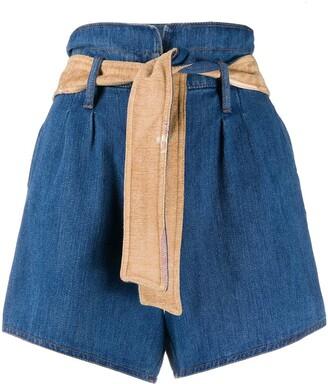 Forte Forte Waist-Tied Denim Shorts