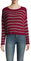 Free People Easy Cotton Stripe Sweater