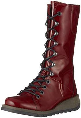 Fly London Women's STER768FLY Combat Boots, Red (Burgundy 011), 6 (39 EU)