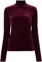 G.V.G.V. Velour turtle neck top